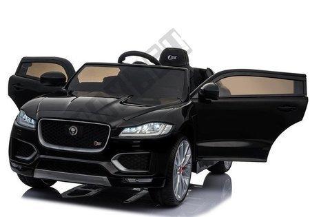 Kinderfahrzeug Jaguar F- Pace Schwarz EVA-Reifen Ledersitz LED Frontscheinwerfer
