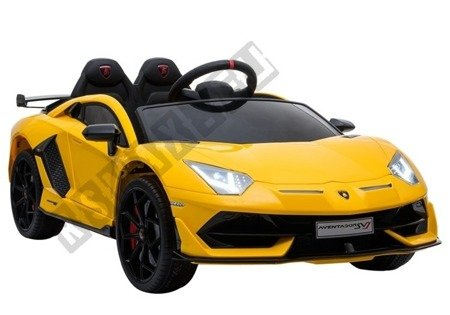 Kinderfahrzeug Lamborghini Aventador Gelb Ledersitz EVA-Reifen Auto