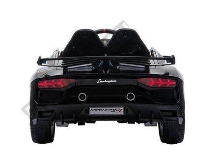 Kinderfahrzeug Lamborghini Aventador Schwarz Ledersitz EVA-Reifen Auto