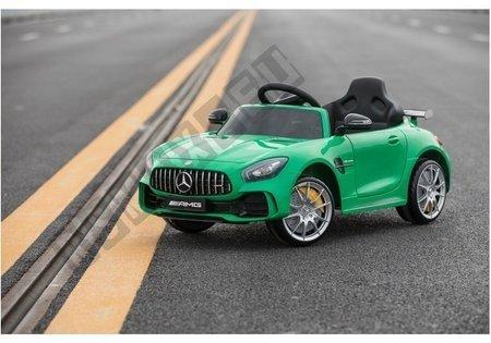 Kinderfahrzeug Mercedes AMG GTR Grün lackiert EVA-Reifen Ledersitz 2.4G Fahrzeug