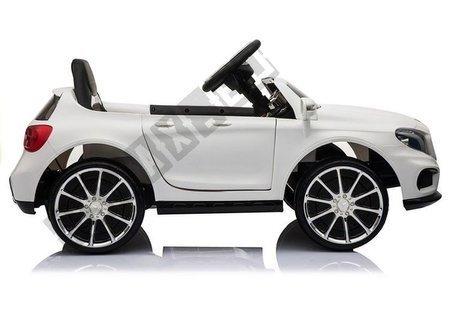 Kinderfahrzeug Mercedes GLA 45 Weiß EVA-Reifen Ledersitz 2x45W Auto