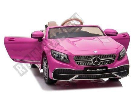 Kinderfahrzeug Mercedes Maybach Rosa Ledersitz EVA-Reifen Auto