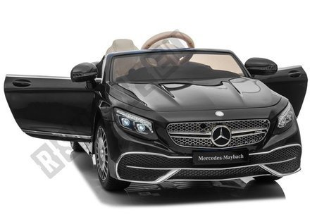 Kinderfahrzeug Mercedes Maybach Schwarz EVA-Reifen Ledersitz Auto