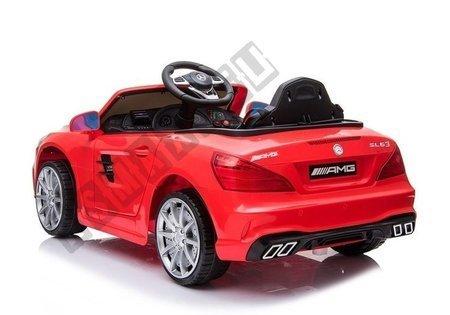 Kinderfahrzeug Mercedes SL63 Rot lackiert EVA-Reifen Ledersitz 2x45W Elektroauto