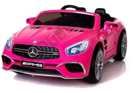 Kinderfahrzeug Mercedes SL65 Rosa MP3 Panel EVA Reifen Fahrzeug Ledersitz Auto