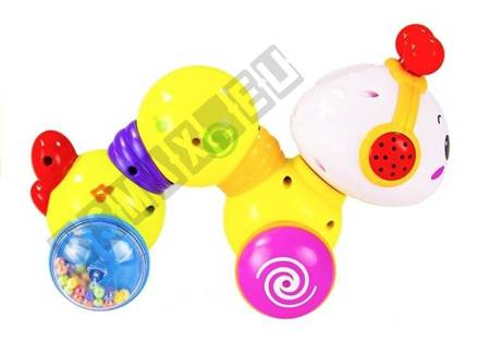 Krabbelwurm Spielzeug zum Krabbeln Sound- und Lichteffekte fröhliche Melodien