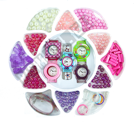 Kunststoffperlen Perlenset  Bastelset Schmuck 240 pcs Set 10 Arten von Perlen