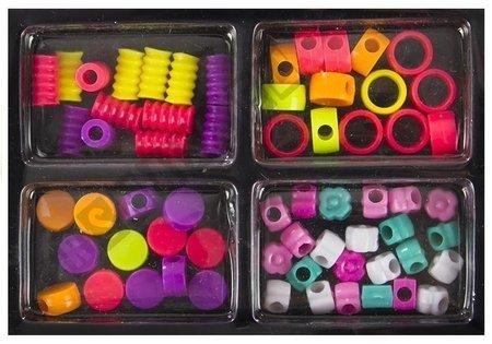 Kunststoffperlen-Set mit Koffer Perlenset Bastelset Schmuck für Kind großes Set