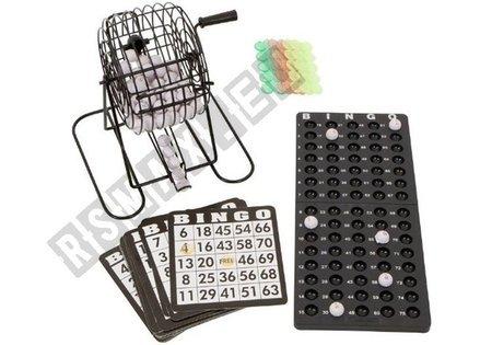 Metal BINGO Lotto Spiel-Set mit Trommel Zubehör Bingotrommel Spiel für Kinder