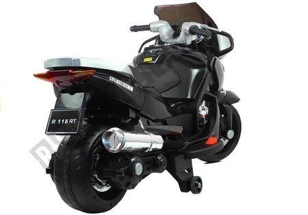 Motorrad HZB118 mit Akku Schwarz 45W LED Frontscheinwerfer