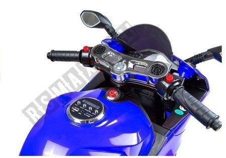 Motorrad SX1628 Blau Ledersitz USB-Eingang SD Motorrad für Kinder Fahrzeug