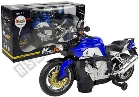 Motorrad blau batteriebetrieben