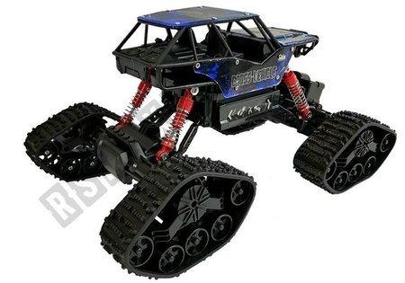 Offroad R / C Auto 4x4 Schwarz mit blauem Muster