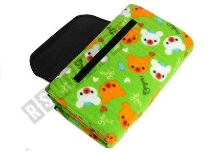 Picknickdecke 150x180  grün weiches Material Reisedecke Decke