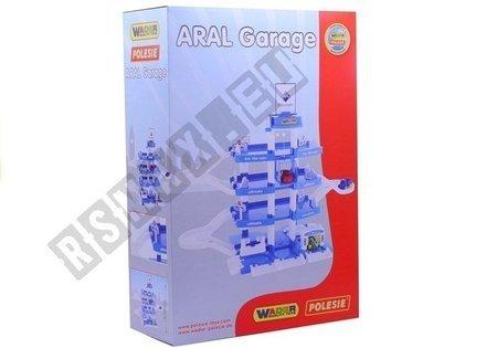 Polesie Parkplatz ARAL 4 Etagen 46093 3 Autos Waschanlage Tankstelle großes Set