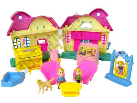 Puppenhaus Villa Sound&Licht Set 4 Figürchen