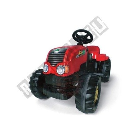 Rolly Kid pedal tractor with red trailer!