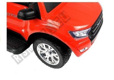 Rutschauto Ford Ranger Wildtrak mit Sonnenschirm Rot Ledersitz