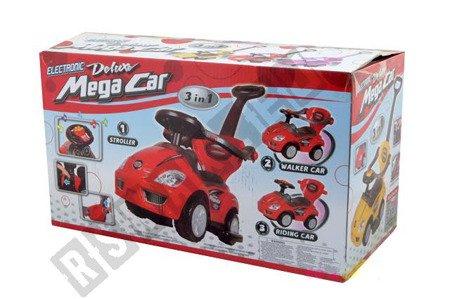 Rutschauto-Lauflerngerät-Rutscher Kinderauto Kinderfahrzeug 3in1 Z382 Gelb