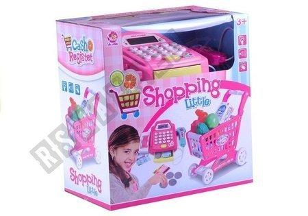 Spielkasse mit Barcode-Lesegerät umfangreiches Set Einkaufswagen Spielzeug