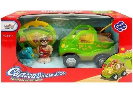 Autko Zdalnie Sterowane z Dinozaurem Jasnozielone