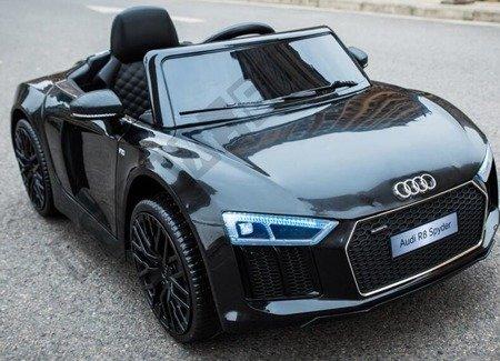 Auto na akumulator Audi R8 Spyder licencja czarny