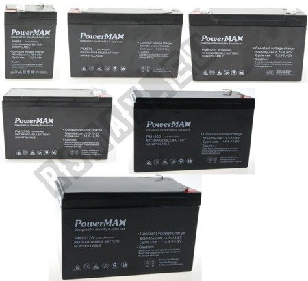 Baterie do pojazdów akumulatorowch 6V/4,5Ah, 6v7Ah, 6v12Ah, 12v7Ah, 12v9Ah, 12v12Ah