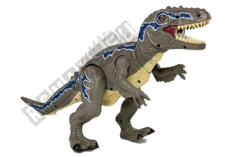 Dinozaur Zdalnie Sterowany Tyranozaur Świeci Szary