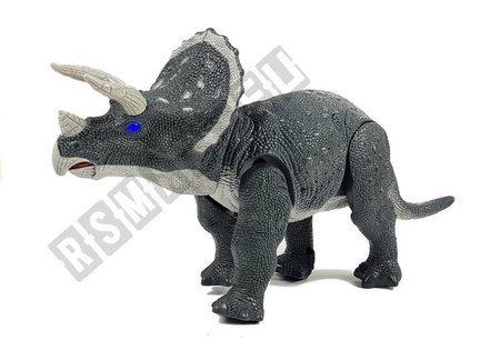 Duży Dinozaur Na Baterie Triceratops Szary