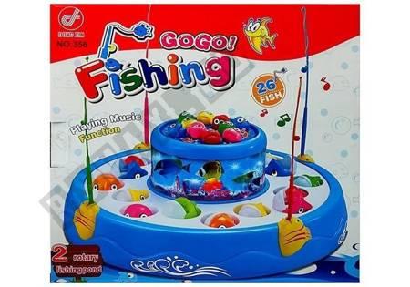 Gra łowienie rybek światło dźwięk 2 poziomy Rybki Różowa