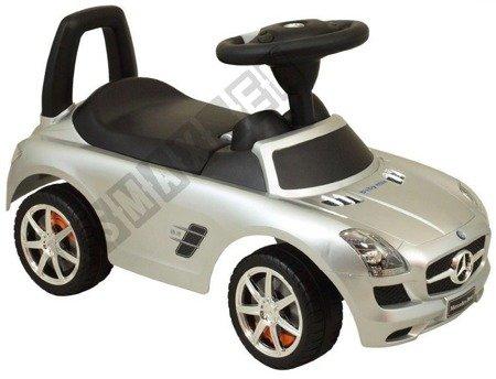 Jeździk MERCEDES SLS AMG pchacz chodzik srebrny