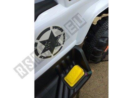 Jeździk na akumulator z pchaczem biały