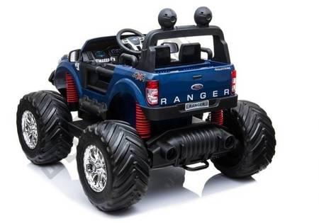Pojazd na Akumulator Ford Ranger Monster Niebieski Lakierowany LCD