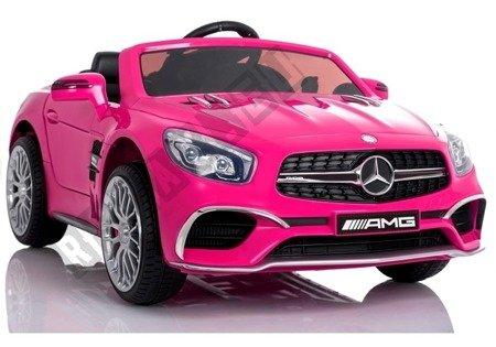 Pojazd na Akumulator Mercedes SL65 LCD Różowy