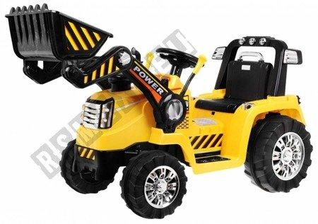 Pojazd na akumulator traktor koparka żółty !