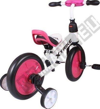 Rowerek biegowy trójkołowy 2w1 XTRIKE RUN różowy