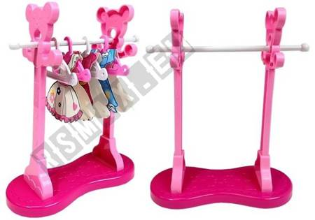 Różowe Żelazko Zestaw do Prasowania Deska Wieszaki