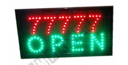 TABLICA Ledowa OPEN 77777 Reklama Baner