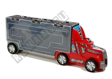 Tir Ciężarówka z Autkami Sorter Resoraki Akcesoria
