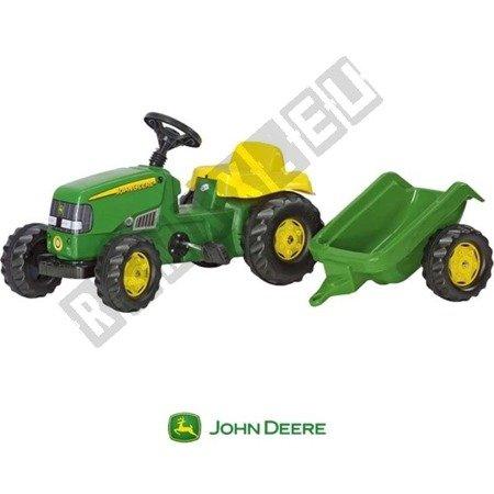 Traktor na pedały z przyczepą zielony 012190