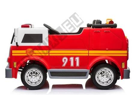 Wóz Strażacki na Akumulator Czerwony Dla Dzieci Pilot
