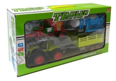 Zestaw Autek Farmerskich Traktor Opryskiwacz